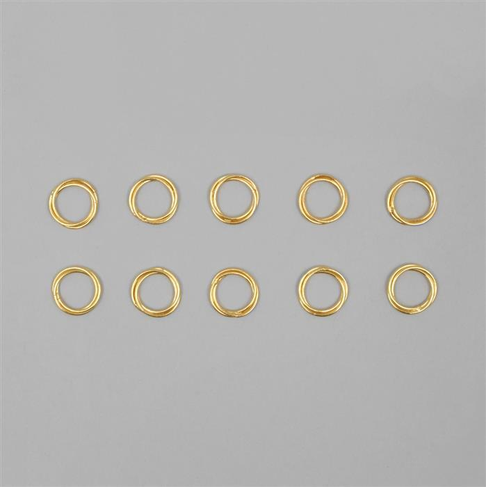 Gold Coloured Copper Twisted Wire Link Jump Ring Approx 17mm (10pcs)