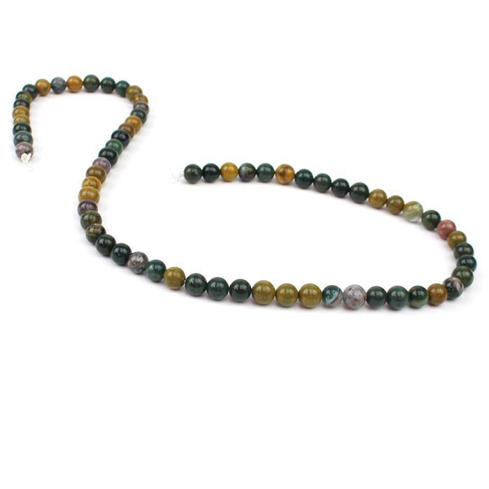 85cts Ocean Jasper Plain Rounds Approx 6mm, 38cm strand