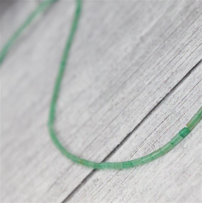 10cts Green Aventurine Tubes Approx 2x4mm, Approx 38cm strand