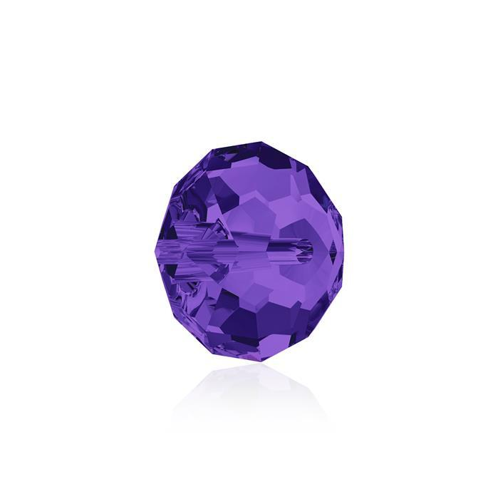 Swarovski Crystal Beads - Pack of 6 Briolette 5040 - 8mm Purple Velvet