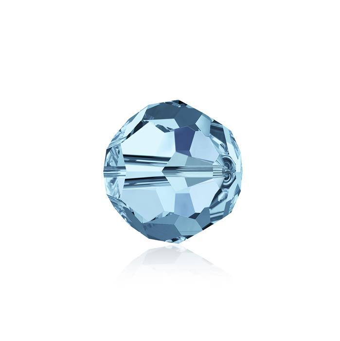 Swarovski Crystal Beads - Pack of 6 Round 5000 - 8mm Aquamarine
