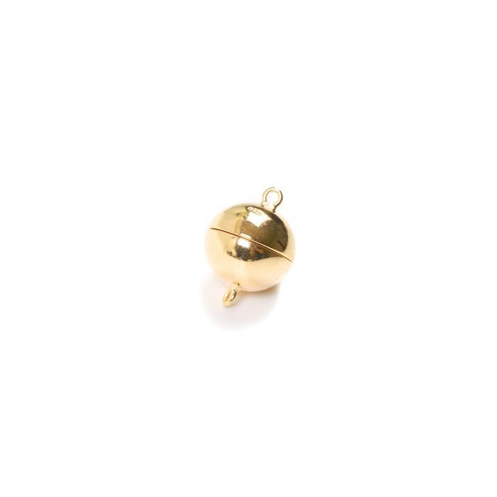 Gold Plated 925 Sterling Silver Magnetic Clasp - 12mm (1pc)