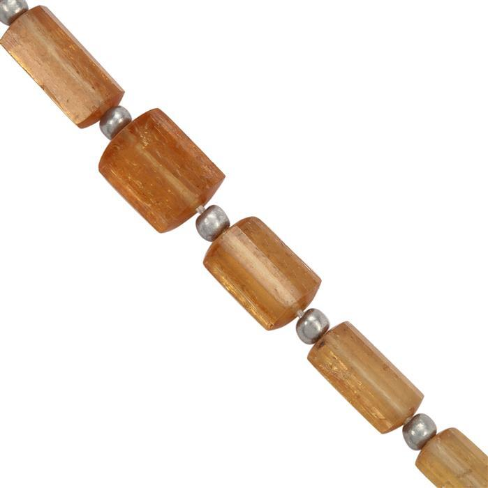 28cts Imperial Topaz Tumbles Approx 4.75x3 to 14x8mm, 11cm Strand With Spacers