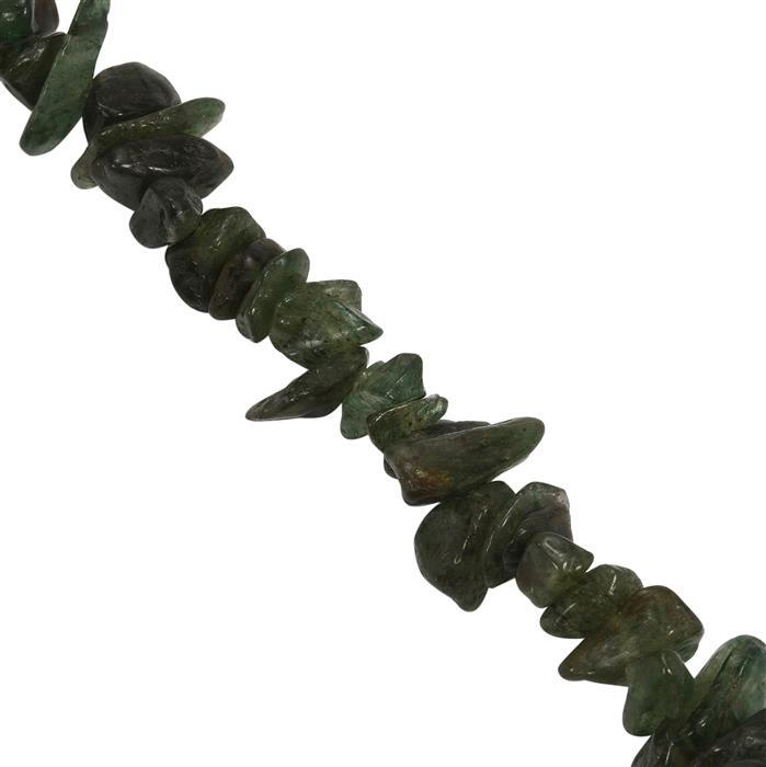 238cts Green Aventurine Small Nuggets Approx 3.75x1.50 to 10.25x2.75mm, Approx 84cm strand
