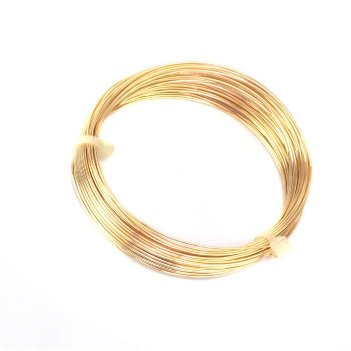 Gold Colour German Style Wire, Round 22 gauge (.025 in, .64 mm), 10 m (32.8 ft)