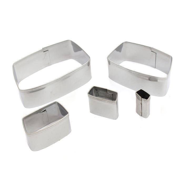 Jewellery Maker Tapered Rectangle Clay Cutters 55-10mm (5pcs)