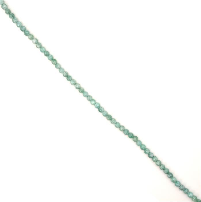 80cts Russian Amazonite Plain Rounds, Approx 6mm, 38cm strand
