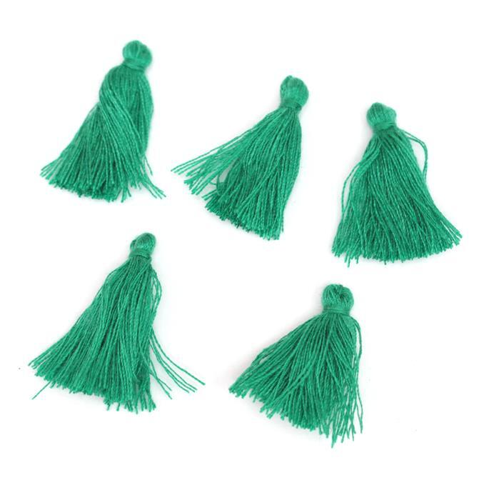 25mm Green Tassels, 5pk