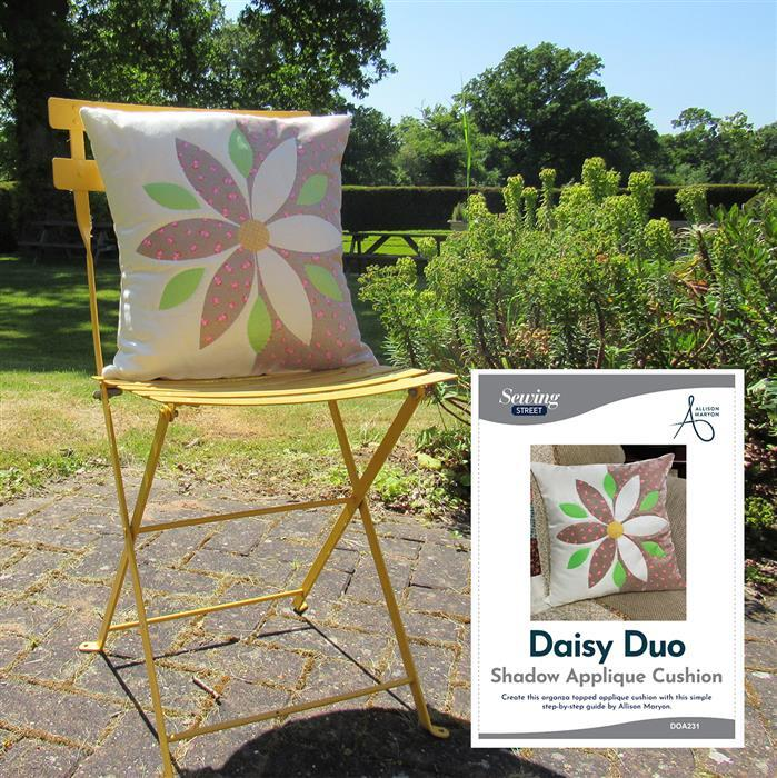 Allison Maryon's Duo Daisy Shadow Applique Cushion Kit & Instructions