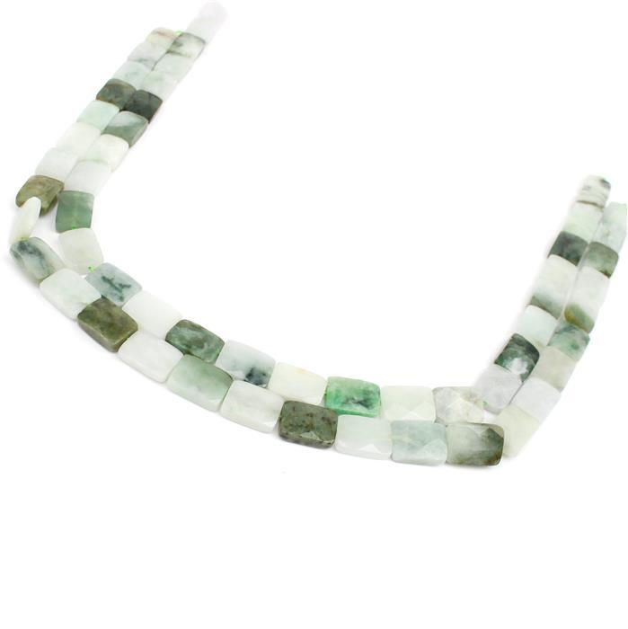 Steve's Super Saver 2x 240cts Burmese Multi-Colour Jadeite Faceted Rectangles Approx 14x10