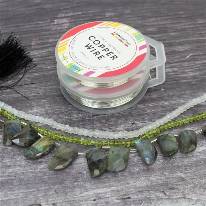 Nature INC Labradorite Faceted Fancy Shapes, Rainbow Moonstone Rondelles & Peridot Bicones