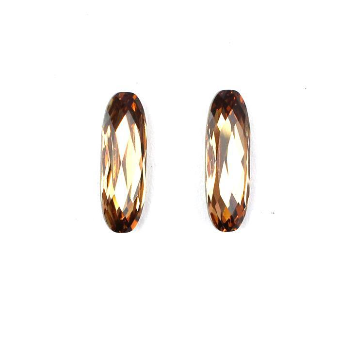 Swarovski Baguette Stone 4161, Light Colorado Topaz, 21x7mm, 2pk