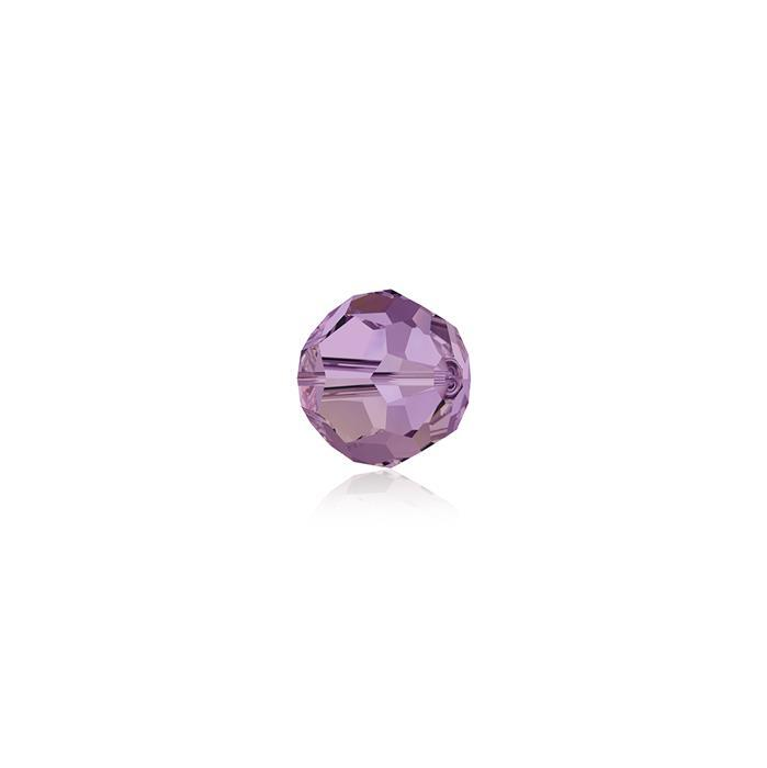 Swarovski Crystal Beads - Pack of 12 Round 5000 - 4mm Crystal Lilac Shadow