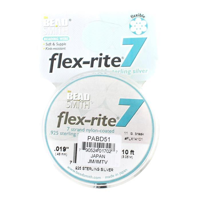 Flex-rite 7 Strand Sterling Silver Wire Approx 0.48mm/0.019