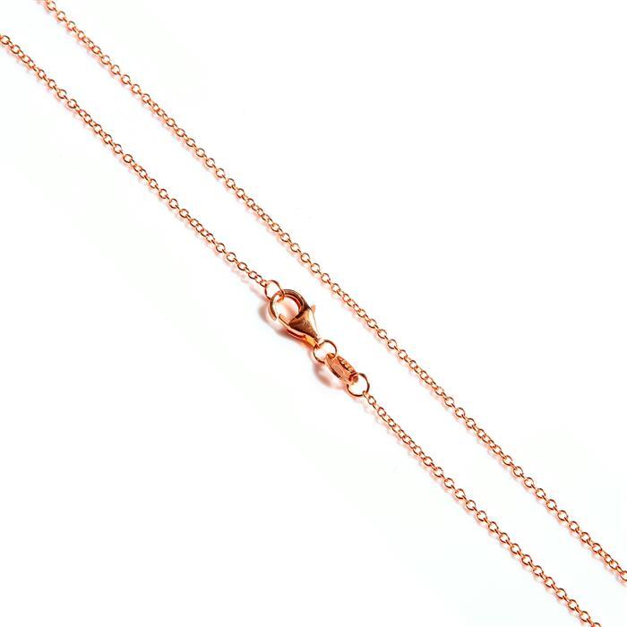 Rose Gold Plated 925 Sterling Silver Cable Chain Approx 50cm/20""