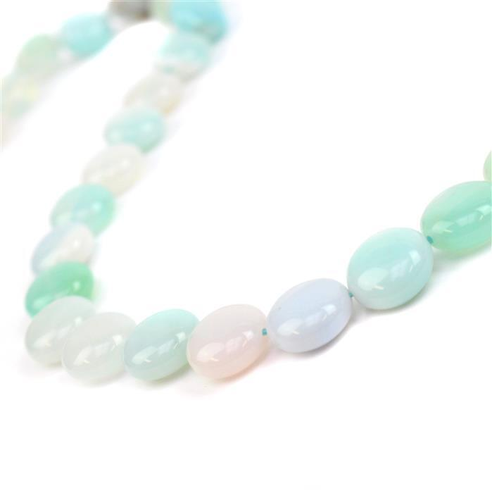 180cts Aqua Stripe Agate Puffy Coins Approx 12mm, 38cm/strand