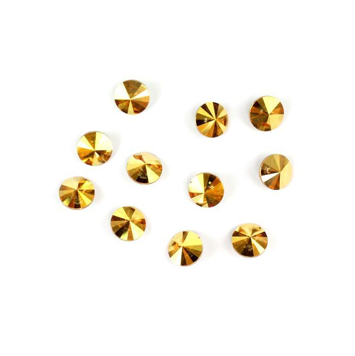 Metallic Sunshine 1122 Swarovski Rivolis - 8mm, 12pk