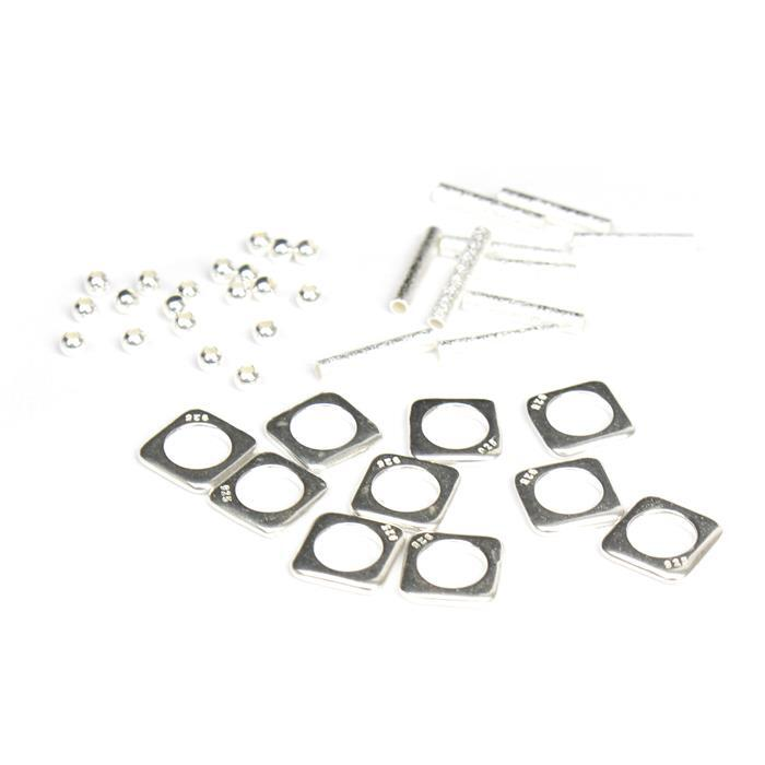 925 Sterling Silver Spacer Bead Bundle 40pcs