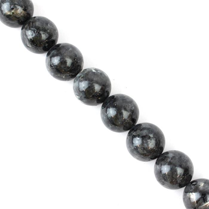 730cts Larvikite Plain Rounds Approx 16mm, 38cm strand