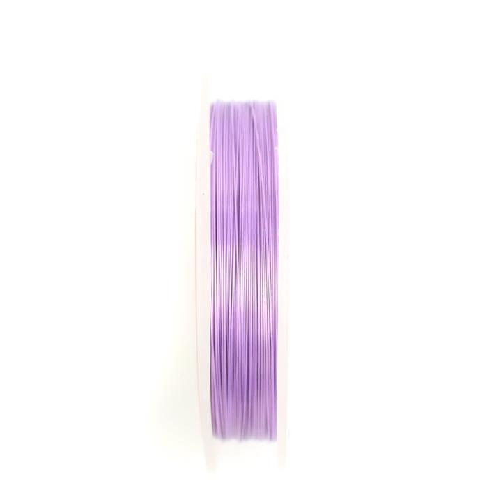 100m Lilac Pastel Coloured Silver Plated Copper Wire 0.40mm