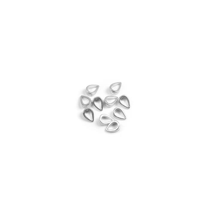 925 Sterling Silver Fluted Bails Approx 7mm (10pc)