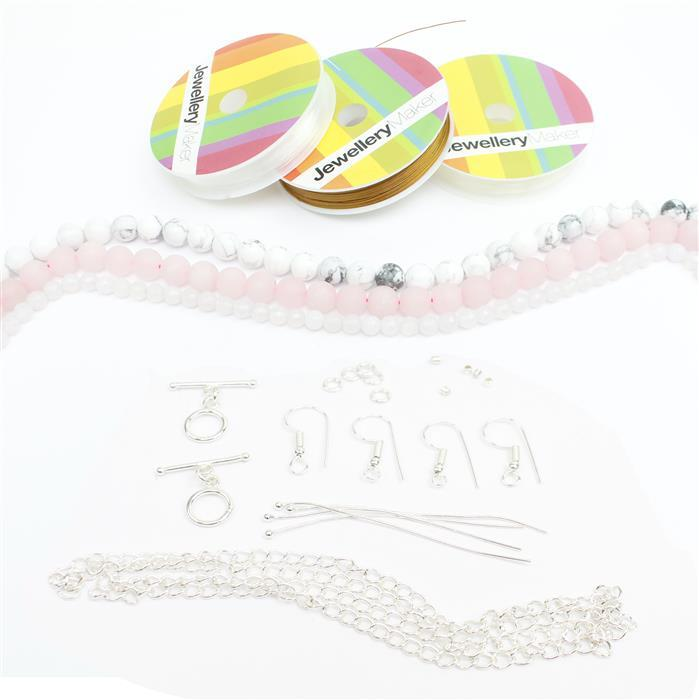 Pink Panther Jewellery Making Kit with Rounds