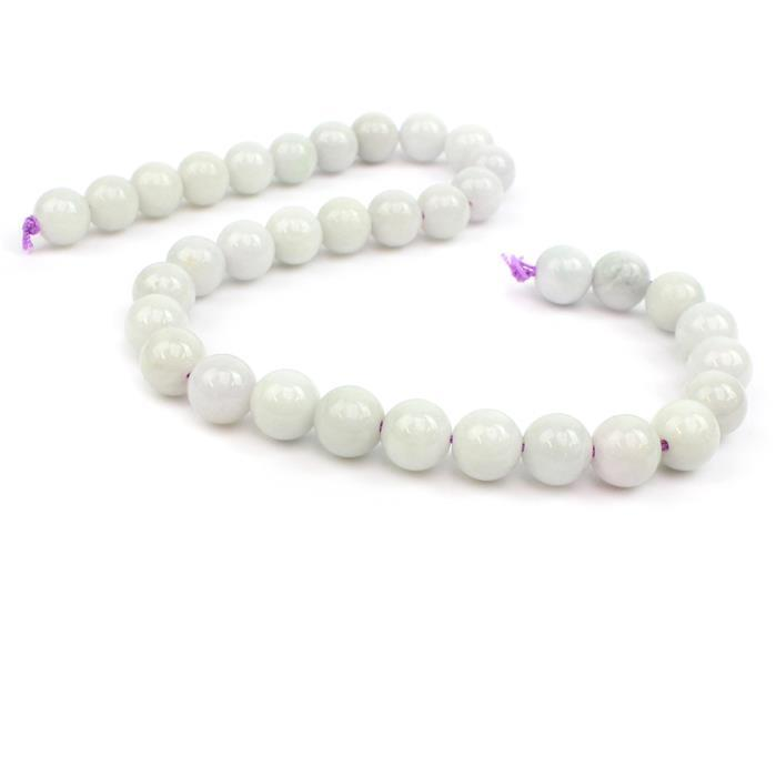 500cts Lavender Jadeite Plain Rounds Approx 12mm 38cm strand