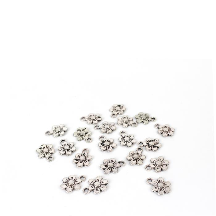 Flower Charms Approx 13x9mm 20pk