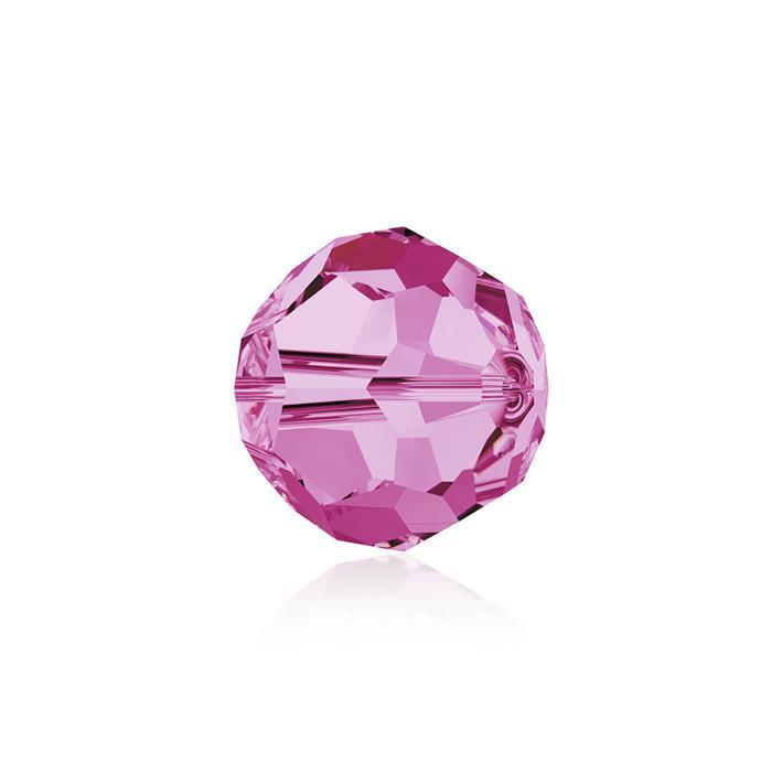 Swarovski Crystal Beads - Pack of 6 Round 5000 - 8mm Rose
