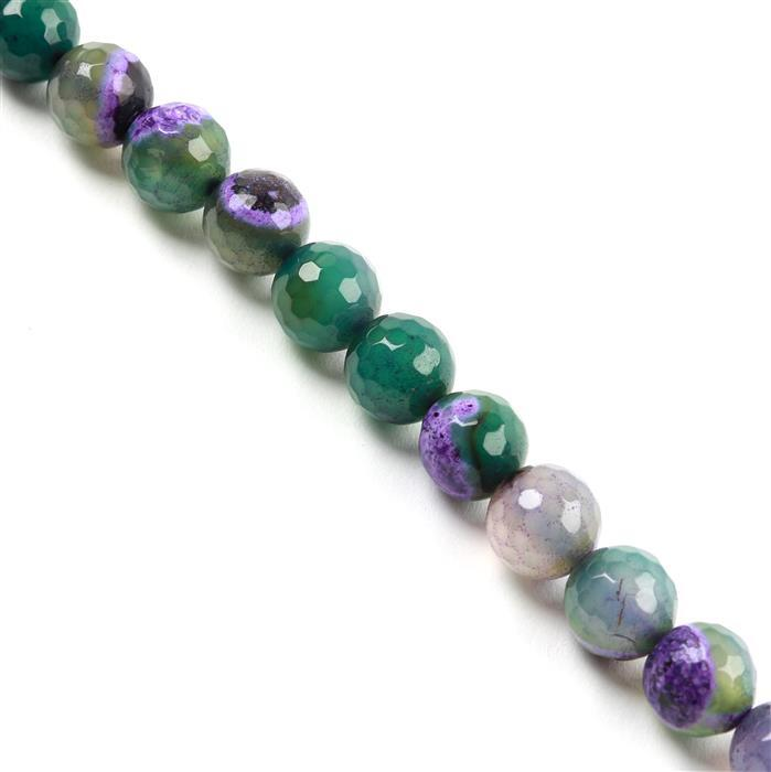 360cts Green&Purple Agate Faceted Rounds Approx 12mm, Approx 38cm/strand