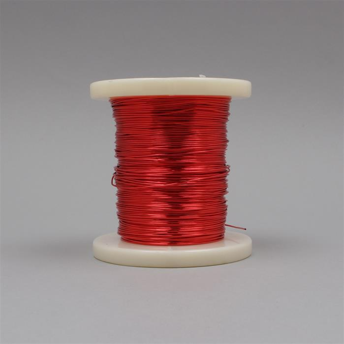 100m Red Coloured Copper Wire 0.8mm