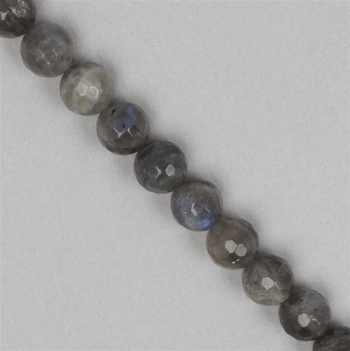 240cts Labradorite Faceted Rounds Approx 10mm