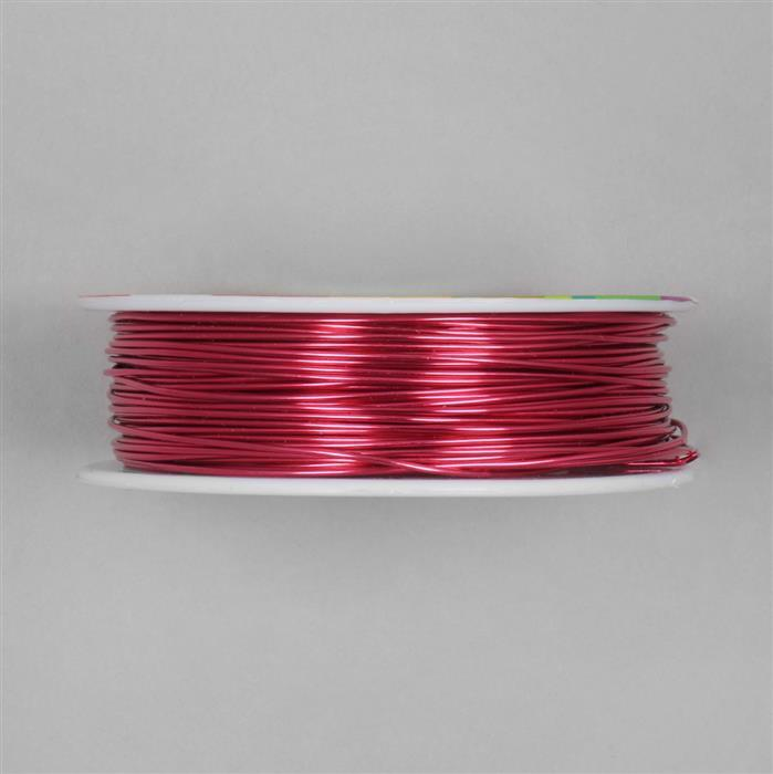 50m Fuchsia Coloured Copper Wire Approx 1.00mm