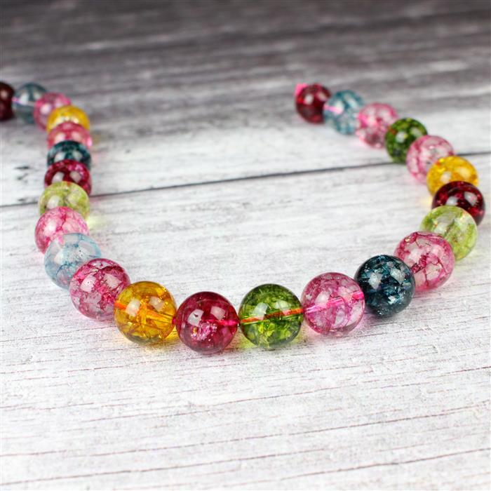 520cts Multi-Colour Quartz Plain Rounds Approx 14mm 38cm strand