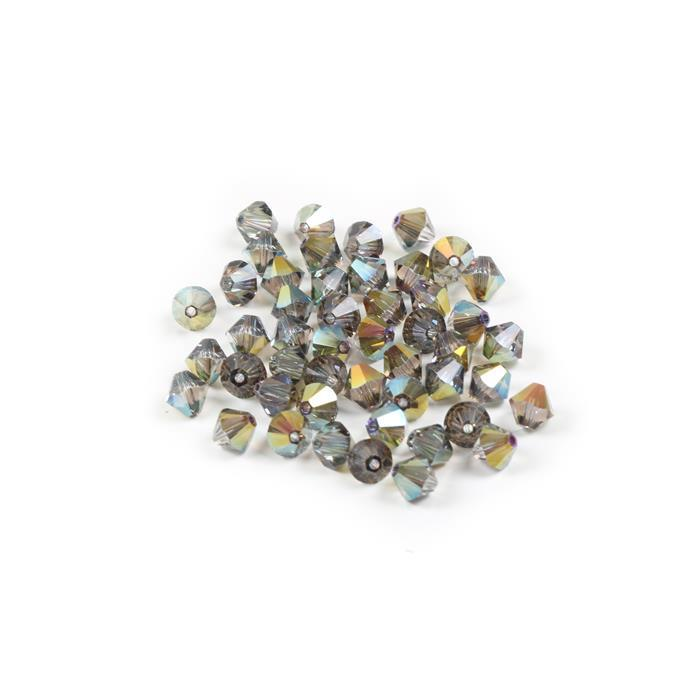 Crystal Iridescent Green 5328 Swarovski Bicone, 6mm - 48pk
