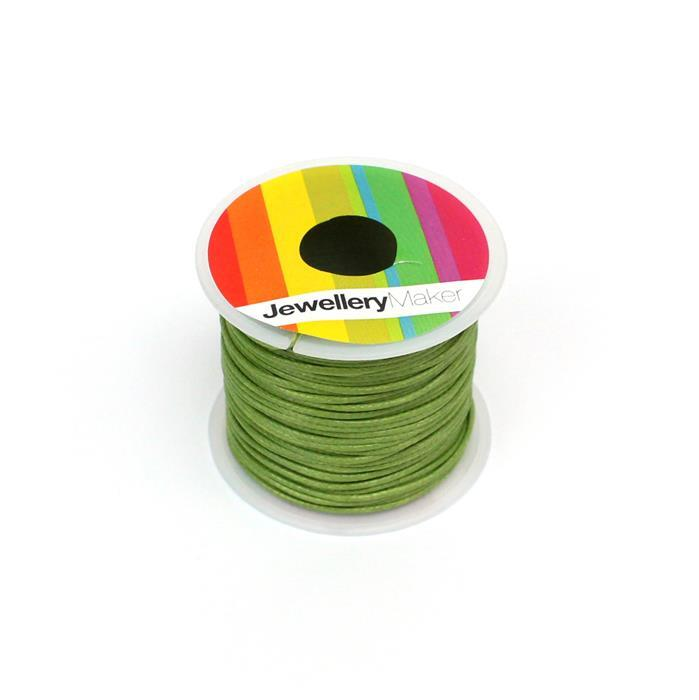 10m Olive Wax Cord Spool 1mm