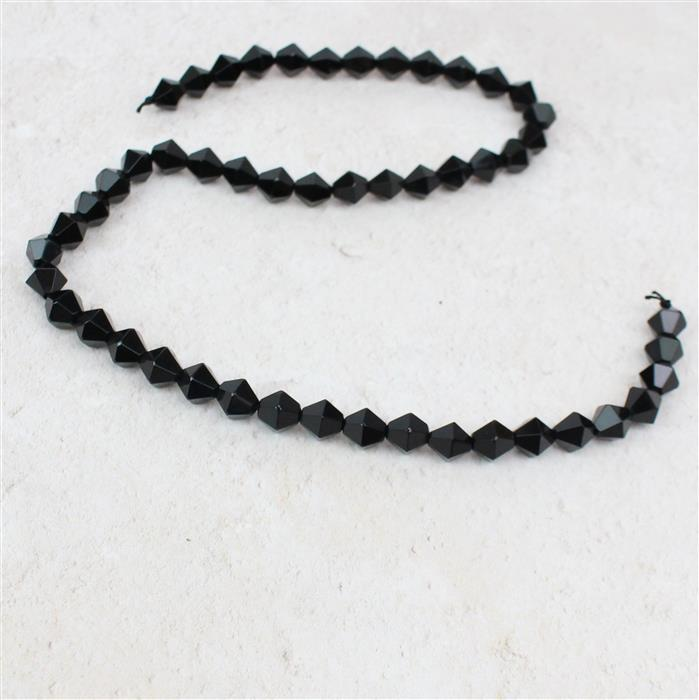 100cts Black Agate Bicones Approx 8mm 38cm strand