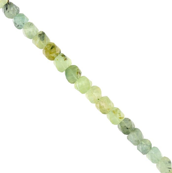 155cts Prehnite Graduated Twisted Faceted Rondelles Approx 7x8 to 8x9mm, 18cm Strand.