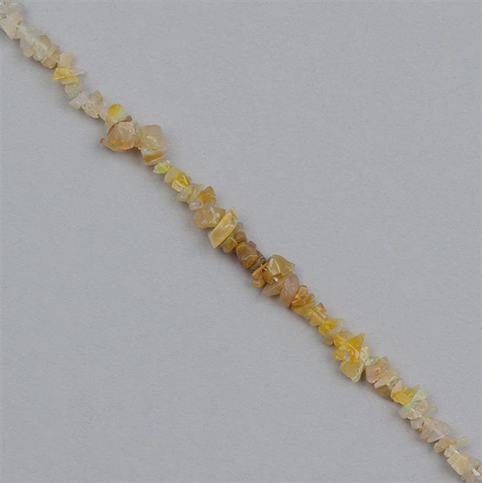 45cts Shaded Ethiopian Opal Plain Small Nuggets Approx From 2x1 to 6x1mm, 82cm Strand.