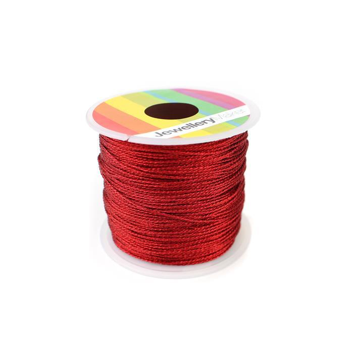 Red Sparkle Nylon Thread, Approx 0.9mm (30m)