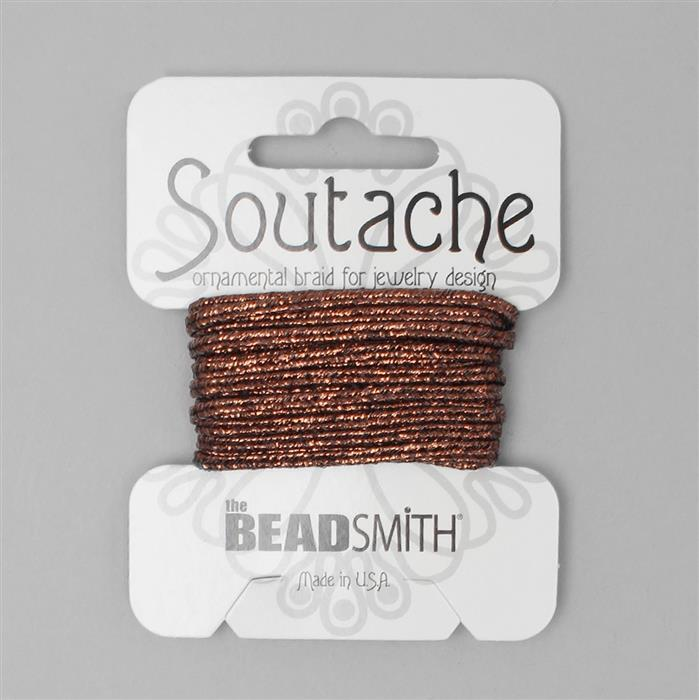 Metallic Bronze Soutache Cord 3yards 3mm
