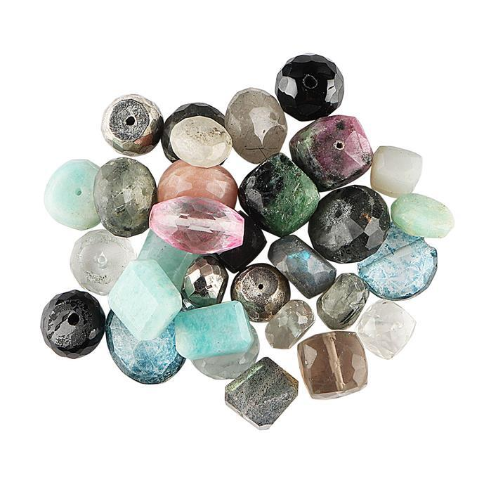 90cts Multi Gemstones Faceted Drilled Loose Beads Assortments.