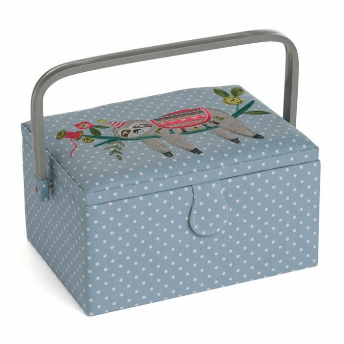Hobby Gift Embroidered Sloth Sewing Box