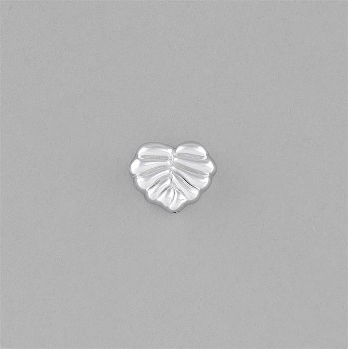925 Sterling Silver Electroforming Leaf Bead Approx 11x9mm