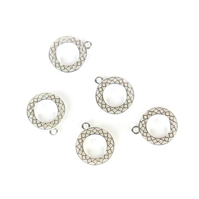 925 Sterling Silver Cutout Charms 10mm, 5pcs