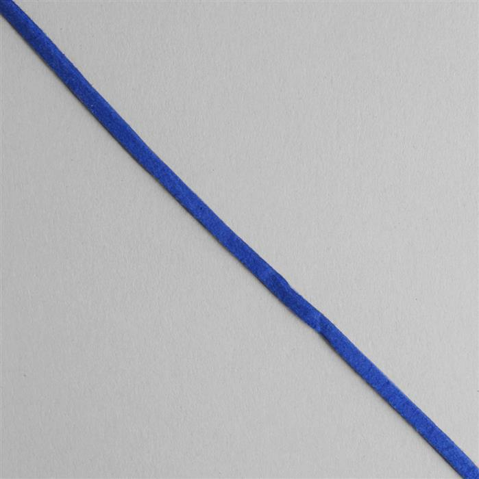 5m Midnight Blue Suedette Cord Approx 1.4x2.5mm