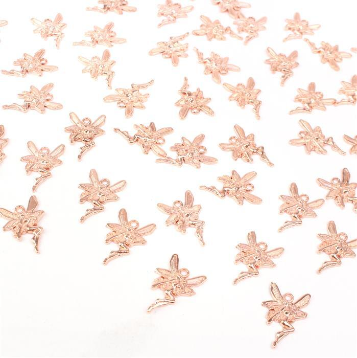 Rose Gold Color Fairy Charm Approx 15x22mm 50pcs/pack