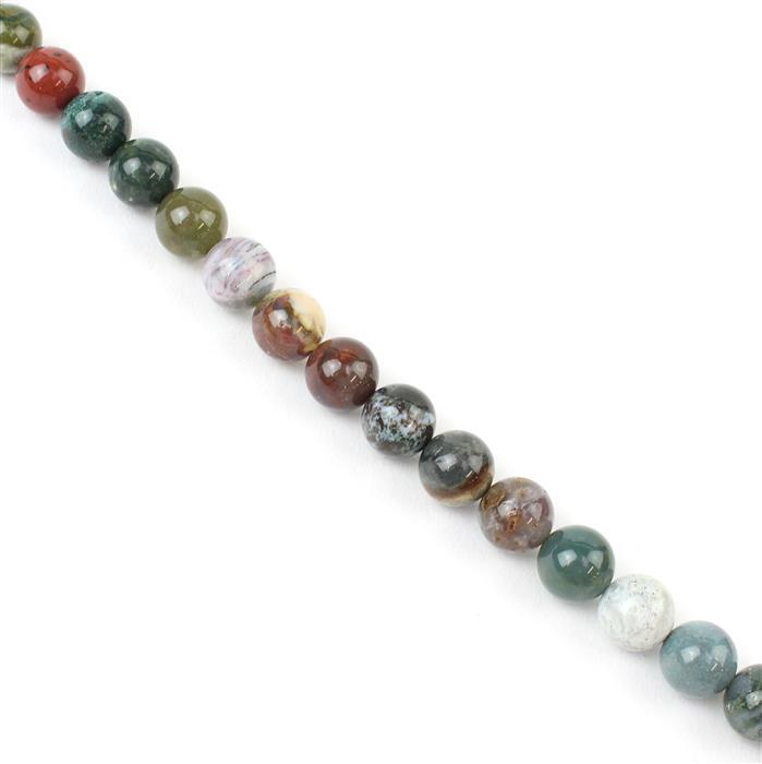 260cts Ocean Jasper Plain Rounds Approx 10mm, 38cm strand