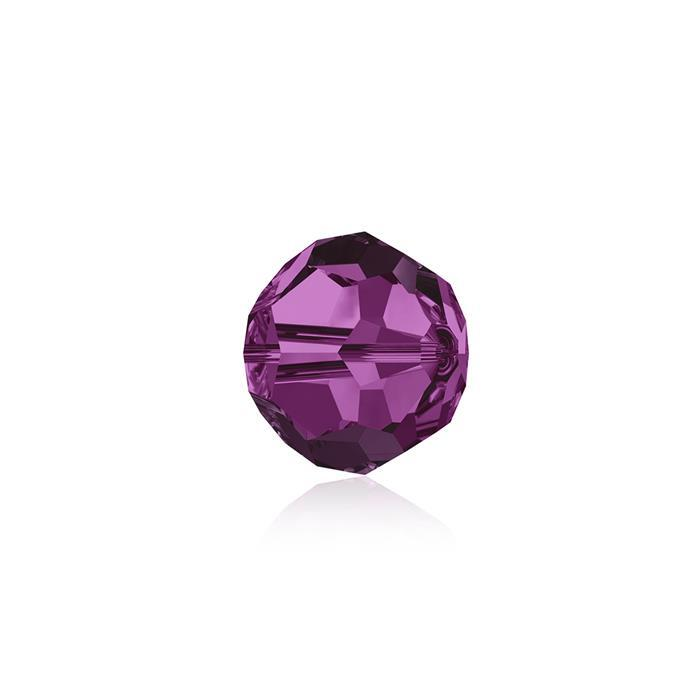 Swarovski Crystal Beads - Pack of 12 Round 5000 - 6mm Fuchsia