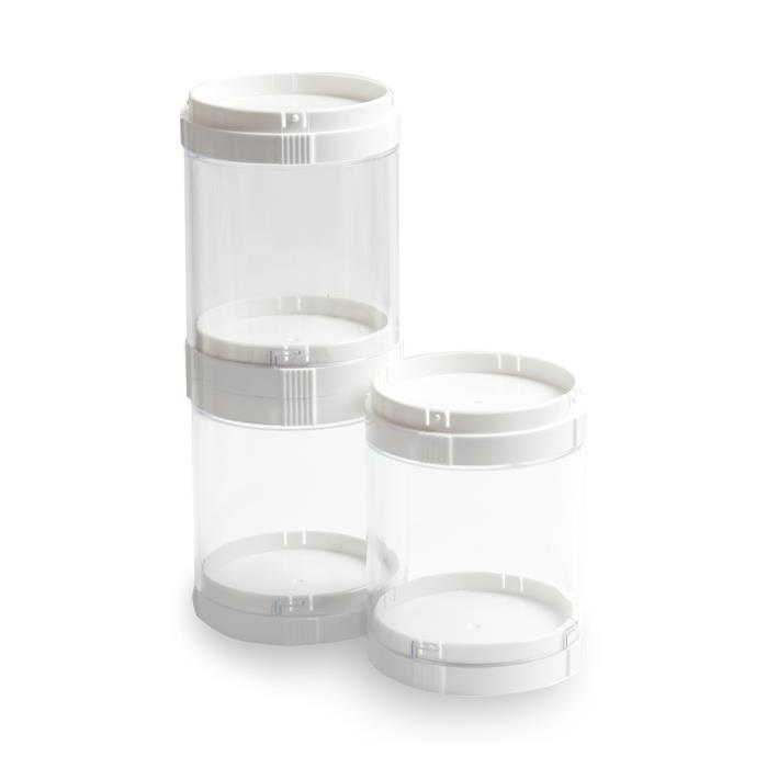 Deflecto Interlocking Stacking Organizer 27.9x7.6cm (3 Tub)